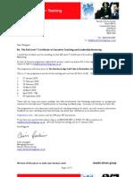 01 ILM Level 7 Certificate Enrolment Jan 2010