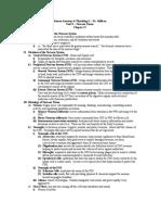 Unit X - Lecture Notes