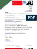 01 ILM Level 7 Certificate Enrolment Mar 2011 Residential