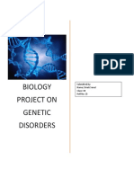Biology Project on Genetic Disorders