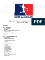 Major League Footy - 7s - Laws of The Game
