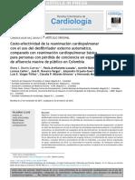 Costo-efectividad de La Rcp Con DEA Comparado Con Rcp Basica, Relacion Costo-efectividad