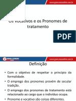 Aula 03 - Pronomes de Tratamento