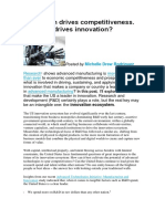 Innovation Drives Competitiveness - Manufacturing