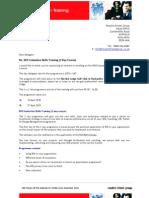 ROI Open Course April 2010 - Enrolment Letter