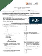 Acumulativo Matemáticas 10º Segundo Periodo