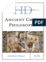 Anthony Preus, Historical Dictionary of Ancient Greek Philosophy