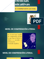 Competencias Comunicativas Niveles de Lectura