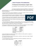 Exercícios Sobre Funções e Procedimentos