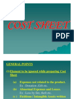 Cost Sheet Format 07