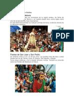 Fiestas de La Región Andina