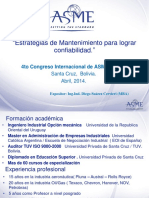 ASME 2014 - Estrategias de Mantenimiento para Lograr Confiabilidad - D. Suárez