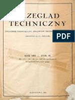 Przegląd Techniczny 1931 Spis Treści