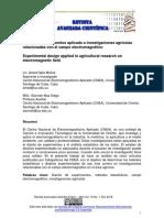 Diseño de experimentos aplicado a investigaciones agrícolas relacionadas con el campo electromagnético