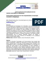 Valoración del Impacto social de la informatización de los trámites municipales en Mayabeque