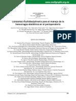 Consenso multidisciplinario para el manejo de la hemorragia obstetrica