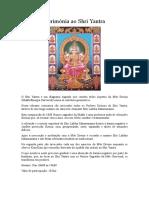 Cerimónia Ao Shri Yantra