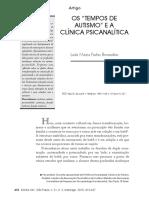 Oa Tempos de Auítismos e a Clinica PSICANALÍTICA