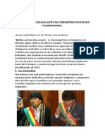 La Republica de Bolivia Antes de Comvertirce en Estado Plurinacional[1]