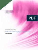 15-. Materiales de Los Equipos de Desalacion