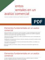 Elementos Fundamentales en Un Avaluo Comercial