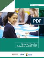 Informe Resumen Ejecutivo Colombia en Pisa 2015
