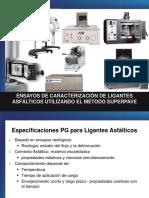 estudios de caracterización de ligantes