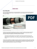 Characteristics of XLPE Insulated Cables