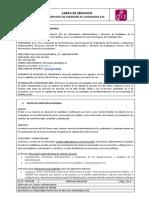 CARTA DE SERVICIOS SERVICIO DE ATENCIÓN AL CIUDADANO 012