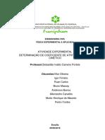 Relatório - Determinação de Coeficiente de Atrito Estático e Dinâmico