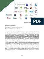 Movimiento  Humano Venezuela Carta Colectiva