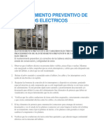 Mantenimiento Preventivo de Tableros Electricos