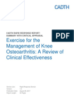 Exercise for the Management of Knee Osteoarthritis