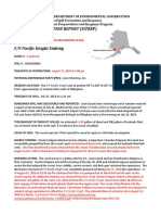 Situation report on F/V Pacific Knight sinking