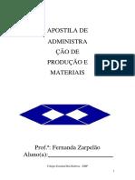 Administração da produção de materiais