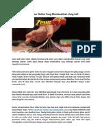 Game Poker Online Yang Membuahkan Uang Asli