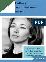 Carta a Un Nino Que Nunca Nacio - Oriana Fallaci