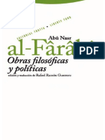 Al-Farabi (Autor). Rafael Ramón Guerrero (Ed. y Trad.)-Obras Filosóficas y Políticas-Trotta (2008)