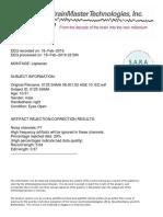 Neurofeedback sample report