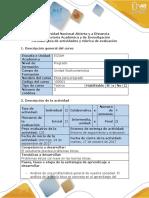 Guía de actividades y rúbrica de evaluación tarea 3 Plantear problema FINAL
