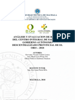 Analisis y Evaluacion de Riesgo Centro Medico Gadpeo