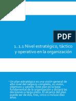 1.1.1 Nivel estrategico y Tactico de una organizacion