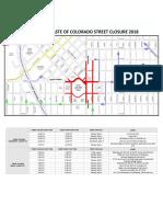 Taste of Colorado Street Closure Map 2018