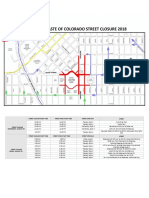 Taste of Colorado Street Closure Map 2018