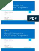 MVA Certificates