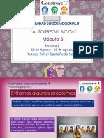 Actividad Sociemocional 9 Autorregulación/ Modulo 5