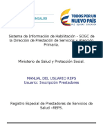 Manual HABILITACION Inscripcion Prestadores
