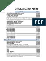 Plan de Trabajo Huila y Caqueta Septiembre 2016. Ok