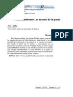 Presentación- Reflexiones en Torno a María Zambrano