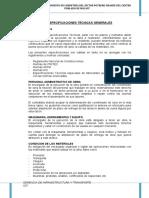 ESPECIFICACIONES TECNICAS Mantenimiento de Trocha Carrozable La Calera